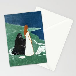 Two women at the beach, Edvard Munch, 1898 Stationery Cards