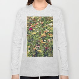 Happy summer meadow vintage style Long Sleeve T-shirt