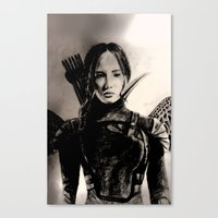 mockingjay Canvas Prints featuring MOCKINGJAY by shochat