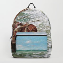 Odysseus And Polyphemus - Arnold Bocklin Backpack