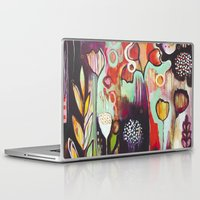 "flora bowley Laptop & iPad Skins featuring ""Release Become"" Original Painting by Flora Bowley by Flora Bowley"