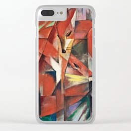 Franz Marc - The Foxes . Clear iPhone Case