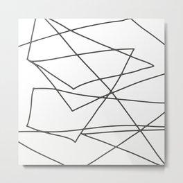 Lines black and white Metal Print