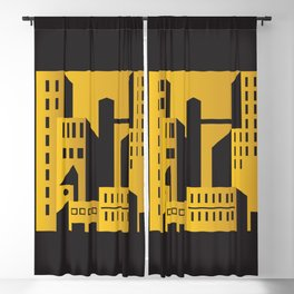 Golden city art deco Blackout Curtain