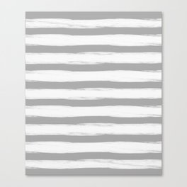 grey and white gross stripes no.3 Canvas Print