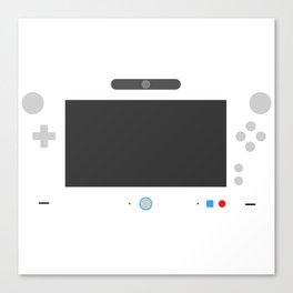 Wiite U Canvas Print