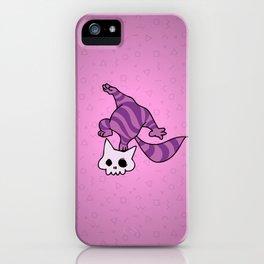 Chesire skull cat iPhone Case
