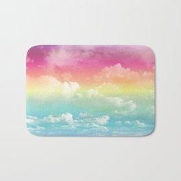 Clouds in a Rainbow Unicorn Sky Bath Mat