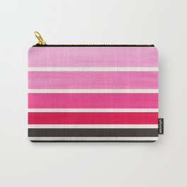 Magenta Minimalist Mid Century Staggered Stripes Rothko Color Block Geometric Art Carry-All Pouch