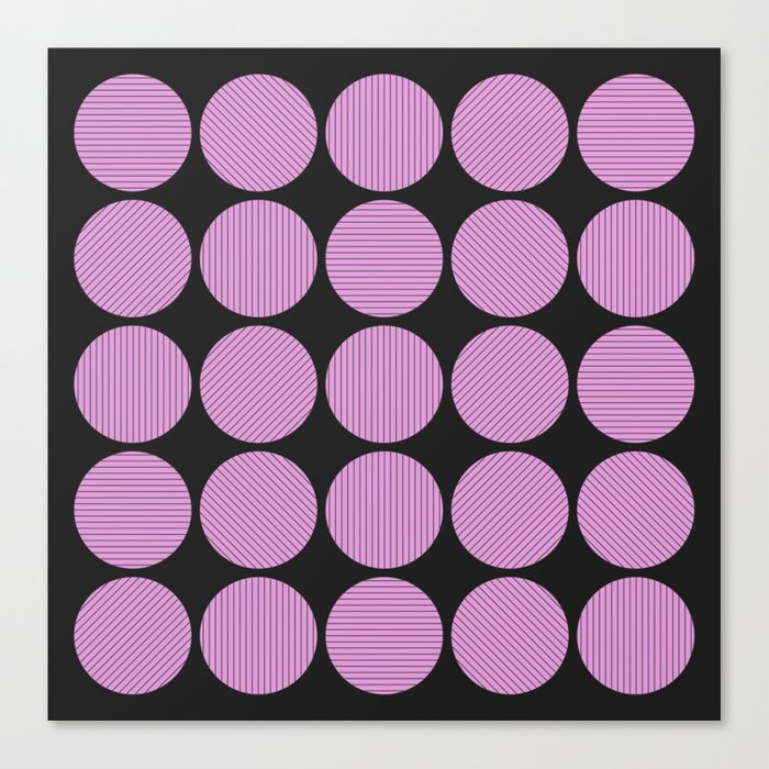 Pastel Pink Geometry (Abstract design in pink and charcoal) Canvas Print
