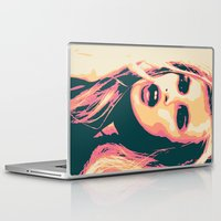 bitch Laptop & iPad Skins featuring Bubblegum Bitch by victorygarlic