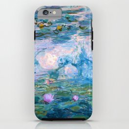 Water Lilies Monet Teal iPhone Case