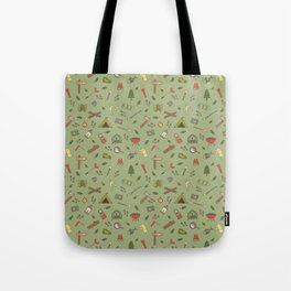 Camping Campsite Outdoor Adventures Pattern Tote Bag