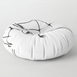 A simple flying dragon Floor Pillow