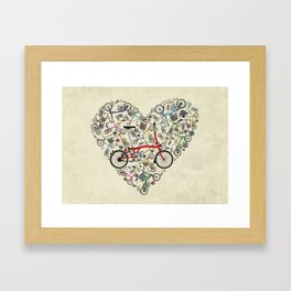 I Love Brompton Bikes Framed Art Print