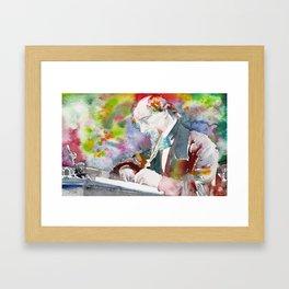 CHARLES DICKENS - watercolor portrait.5 Framed Art Print