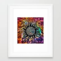 supernatural Framed Art Prints featuring Supernatural by Spooky Dooky