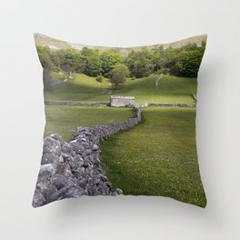 Meadows at Kettlewell, Yorkshire Dales, England Throw Pillow