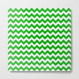 CHEVRON DESIGN (GREEN-WHITE) Metal Print