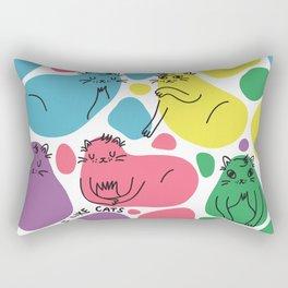 Blob Cats Rectangular Pillow