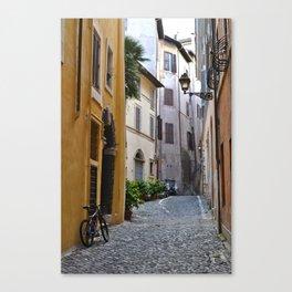 Cobblestone Road, Rome.  Canvas Print