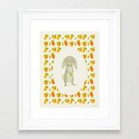 rabbit Framed Art Prints featuring Rabbit by Jane Mathieu
