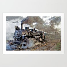 Old steam locomotives II Art Print