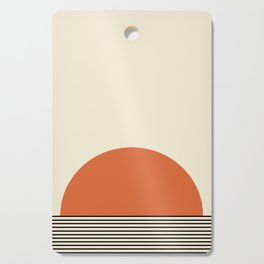 Sunrise / Sunset - Orange & Black Cutting Board