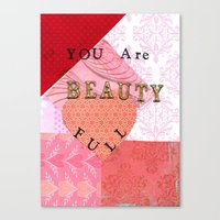 valentines Canvas Prints featuring Valentines by Patty Haberman