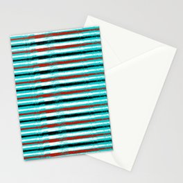 Color abstract line Stationery Cards