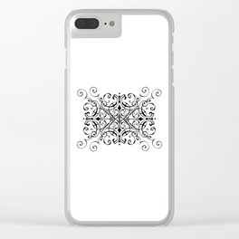 Figure Eight Scrollwork Clear iPhone Case