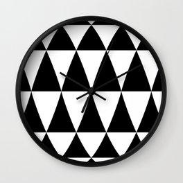 Triangle waves and swirls Wall Clock