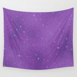 Purple Night Nebula Wall Tapestry