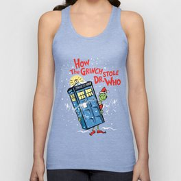 How The Grinch Stole Dr Who (on Dark) Unisex Tank Top