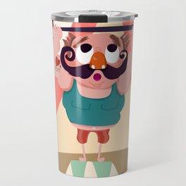 Monsieur Muscle  Travel Mug