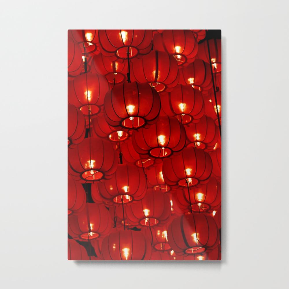 Red Lanterns Metal Print by Jwimages MTP8774654