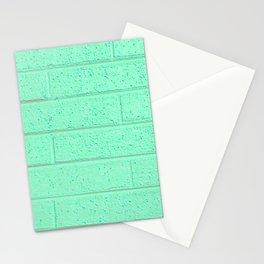 Mint Brick Wall Stationery Cards