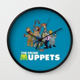 Drunk Muppets Cartoon Parody Wall Clock