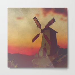 Don Quijote - Pillow Set (Middle Part) Metal Print