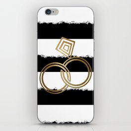 Gold Wedding Rings iPhone Skin