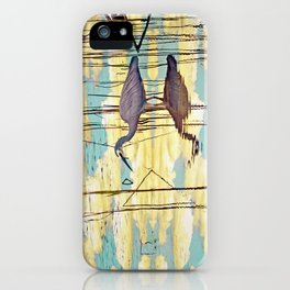 Wading Through Clouds iPhone Case