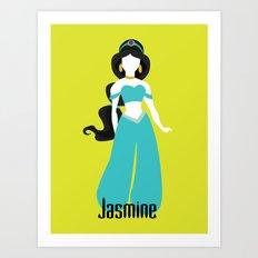 Jasmine from Aladdin Disney Princess Art Print