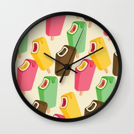 Ice cream song pattern Wall Clock