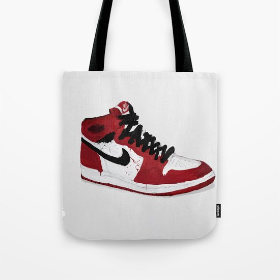 Nike Air Force 1 - Retro - Red & Black & White Tote Bag