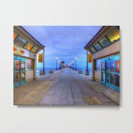 Before Dawn  * Huntington Beach Pier Metal Print