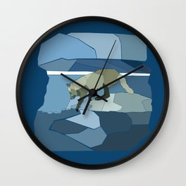 Artic Wolf Wall Clock