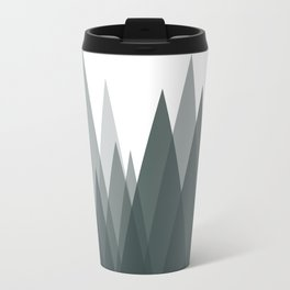Green Mountains Abstract Landscape Travel Mug