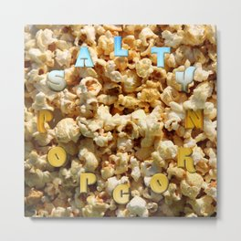 Salty Popcorn – Clock 9 - Living Hell Metal Print