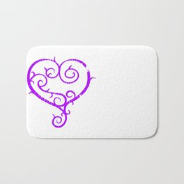 GO. LIVE. NOW. heart logo Bath Mat