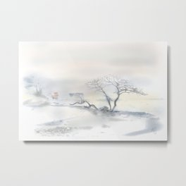 """Scots Pine"", Fårösund, Gotland, Metal Print"